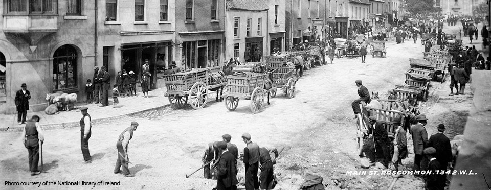 Roscommon Street Scene: Image courtesy of the National Library of Ireland